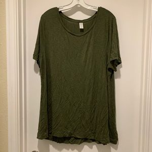 Old Navy Luxe Tee in Army Green